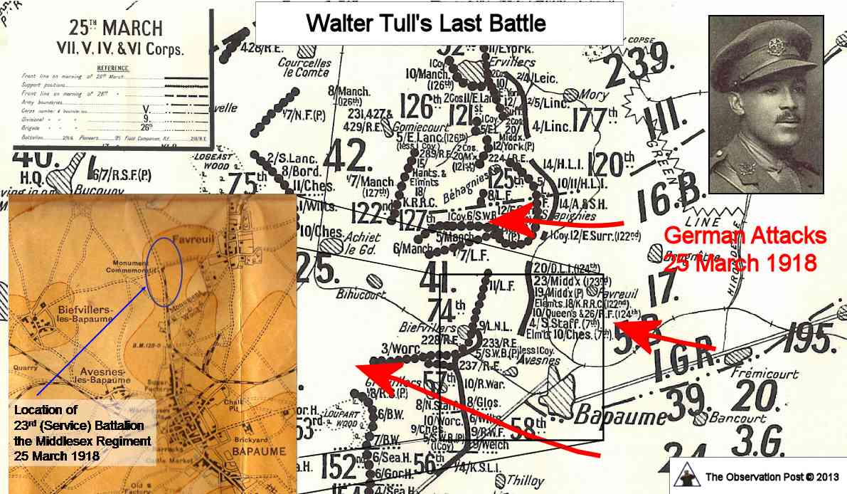 Walter Tull Map