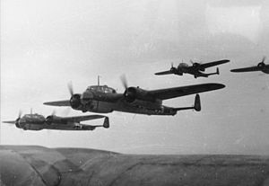 Formation of Do17Z Bomber Aircraft in 1940 (wikipedia Commons)