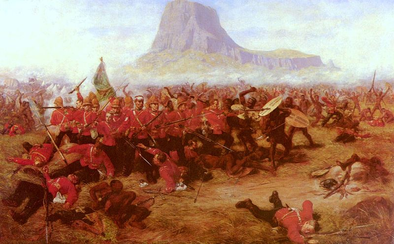 Battle if Isandlwana 1879 by Charles Edwin Fripp  (wikipedia Commons)