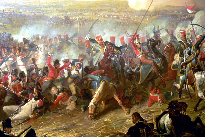 10th Hussars at the Batle of Waterloo Denis Dighton (wikipedia commons)