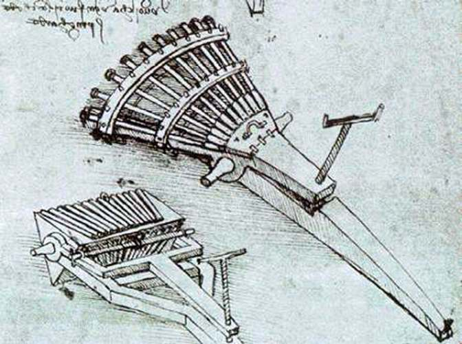 Leonard da Vinci´s organ gun (wikipedia Commons)