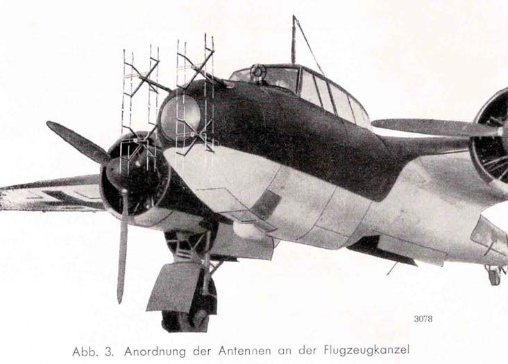 Prey Turned Hunter.  Dornier 17Z fitted with SN2 airborne Interception radar. Lieutenant Ludwig Becker used an aircraft like this fitted with the prototype of this radar to shoot down five bombers in August 1941.