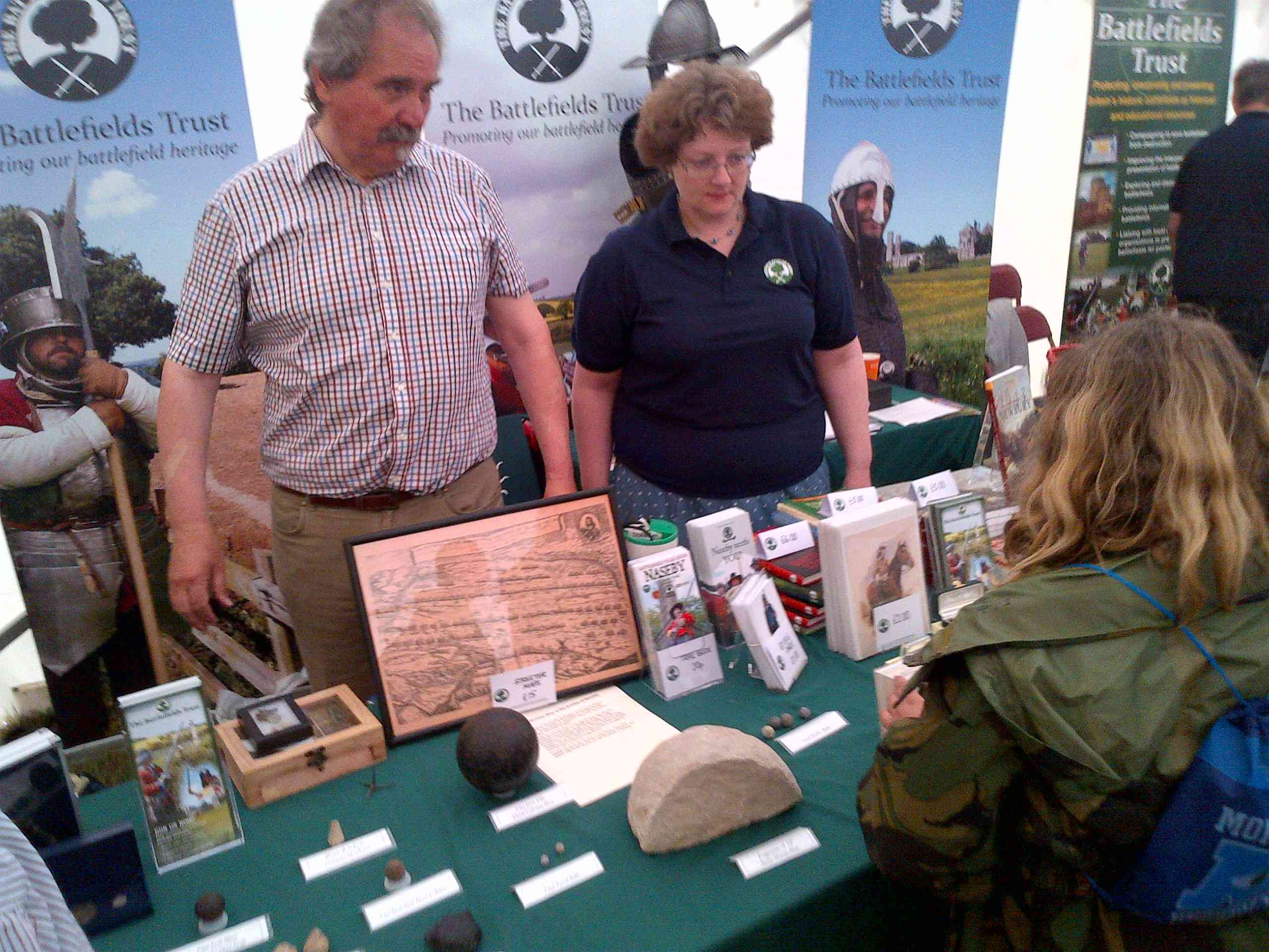 Alan and Nichola Turton (Wessex Region)  with some of their collection of civil war and other archaeological finds.