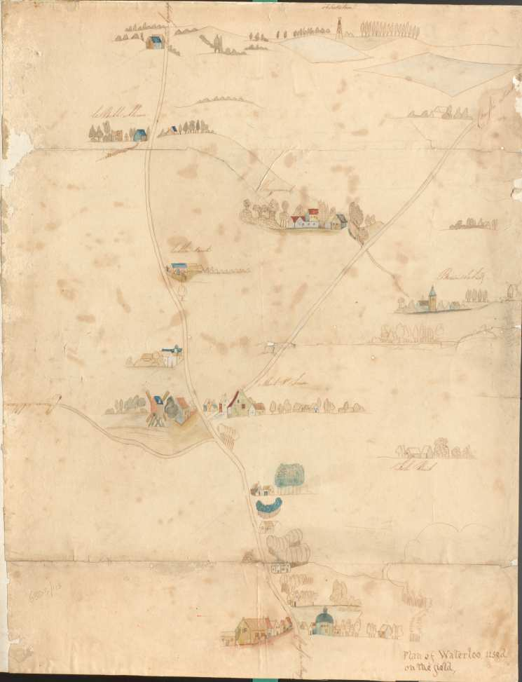 Sketch map used on the field of Waterloo (National Army Museum)