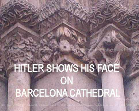 """HItlers Face"" on Barcelona Cathedral"