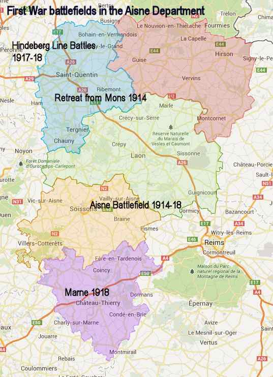 aisne departmental map