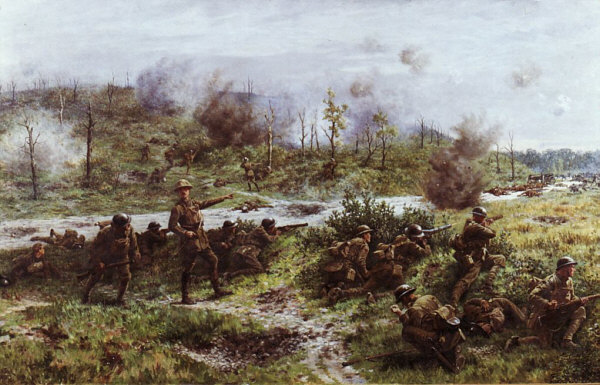 Last Stand of the 2nd Battalion the Devon Regiment at the Bois de Buttes May 1918: Willaims Barnes Wollen