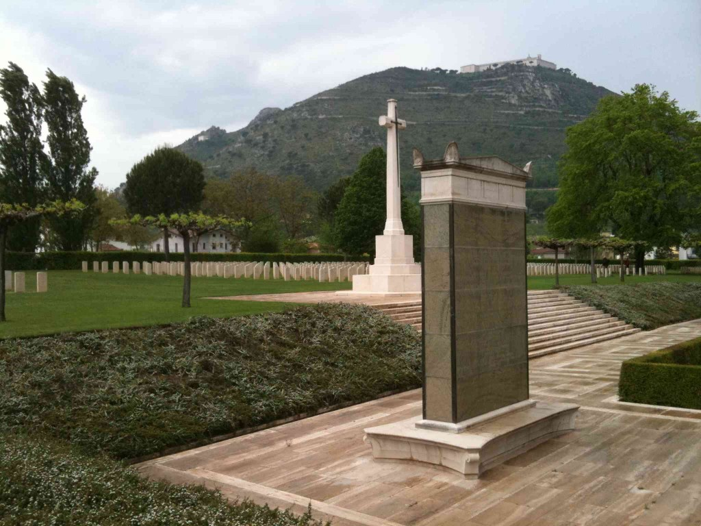 Monte Cassino from Cassino War Cemetery