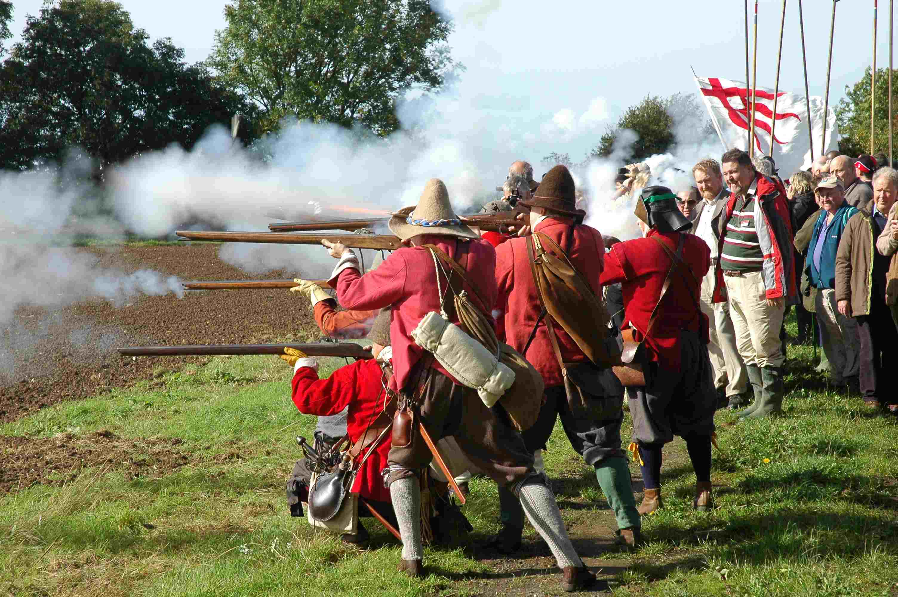 Living Historians on the Battlefield of Naseby