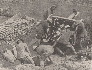 Positioning a 18 Pdr Gun The Battle of Arras April 1917