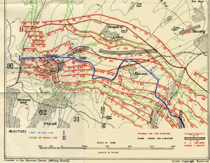 Part of the predicted fire plan supportign the attack at Cambrai