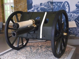 The 13 Pdr Nery gun on Display in the Imperial War Museum london
