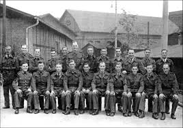 These soldiers from 105/109 battery RAphotographed in a  POW camp