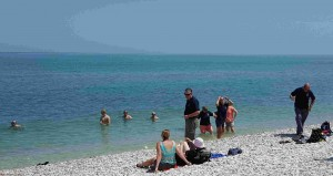 Down time in the Adriatic sea., close to the mouth of the River Sangro