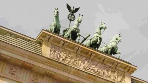 The Brandenburg Gate - the symbol of a divided city