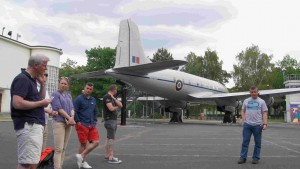 An aircraft of the Berlin airlift