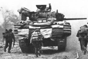 D D Tanks of the 13/18th Hussars on D Day