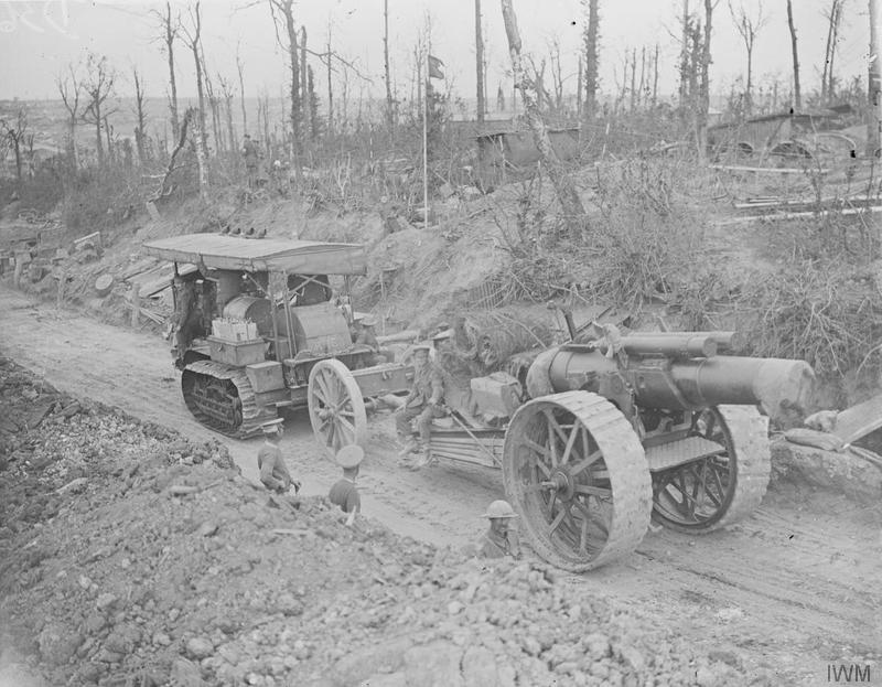 8 inch gun o  move somme 1916 IWM (Q 4322)large