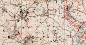 Artillery Dispositions 26th June 1916 behind Newfoundland Park