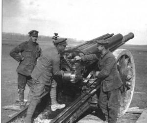 60 Pdr Guns Somme IWM Q8651