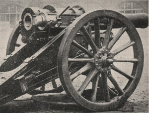 British 6inch 30cwt Howitzer Breech Open