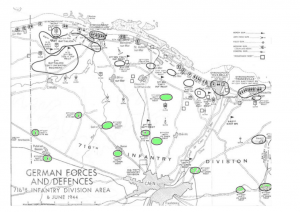 Map defences of Caen