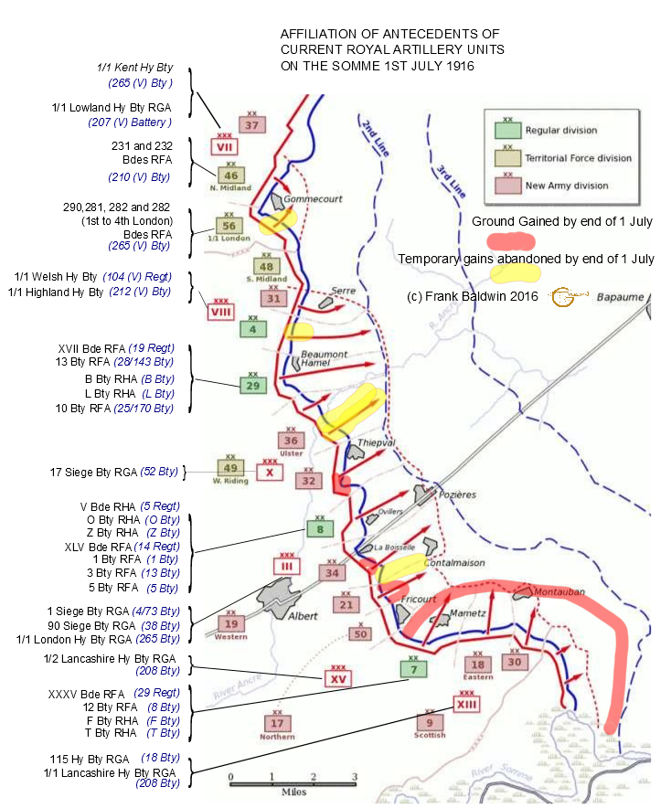 Somme map first day affiliations