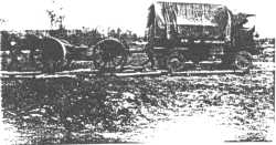 BL 6-inch howitzer and a four wheel drive tractor