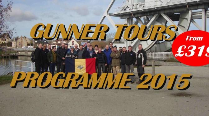 Gunner Tours Public Tour Programme 2015