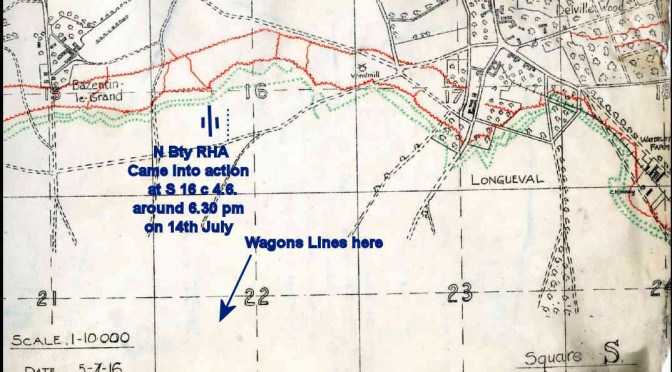 14th July – the Battle of Bazentin Ridge